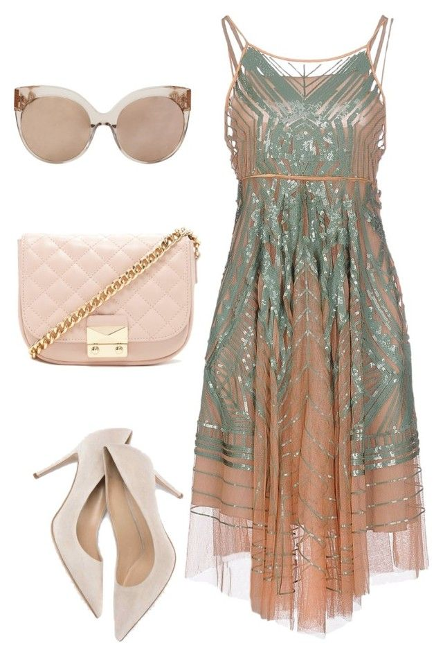 """""""Untitled #10"""" by jamiewells63 ❤ liked on Polyvore featuring Moschino, Forever 21 and Linda Farrow"""