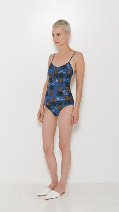 157ff4371a Sea NY Pineapple One Piece in Blue   The Dreslyn   NEW ARRIVALS ...