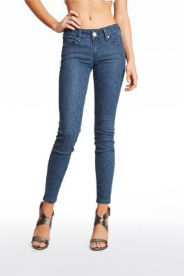 Olivia Floral Skinny Jeans | GuessFactory.com