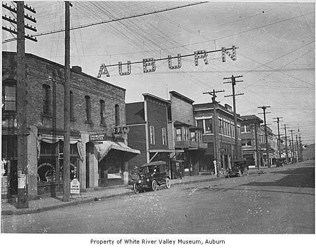 Historical Main Street Auburn Wa With Auto Supply Company And