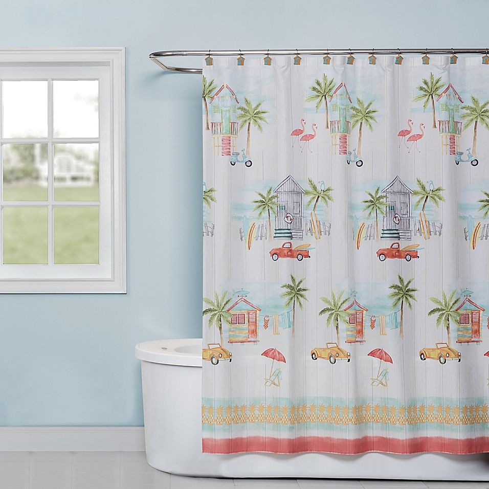 By The Surf 72 X 70 Shower Curtain Multi Curtains Bedroom Comforter Sets Surfing