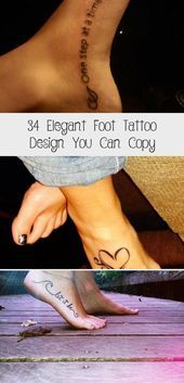 Photo of 34 Elegant Foot Tattoo Design You Can Copy – Tattoos  Elegant Foot Tattoo Design…