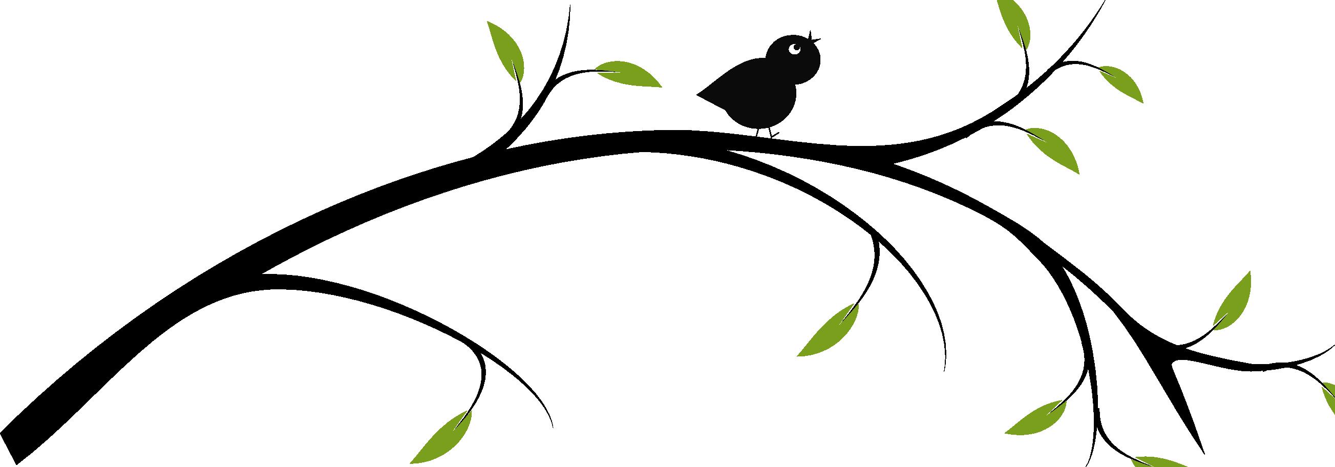 Birds On A Branch Clip Art