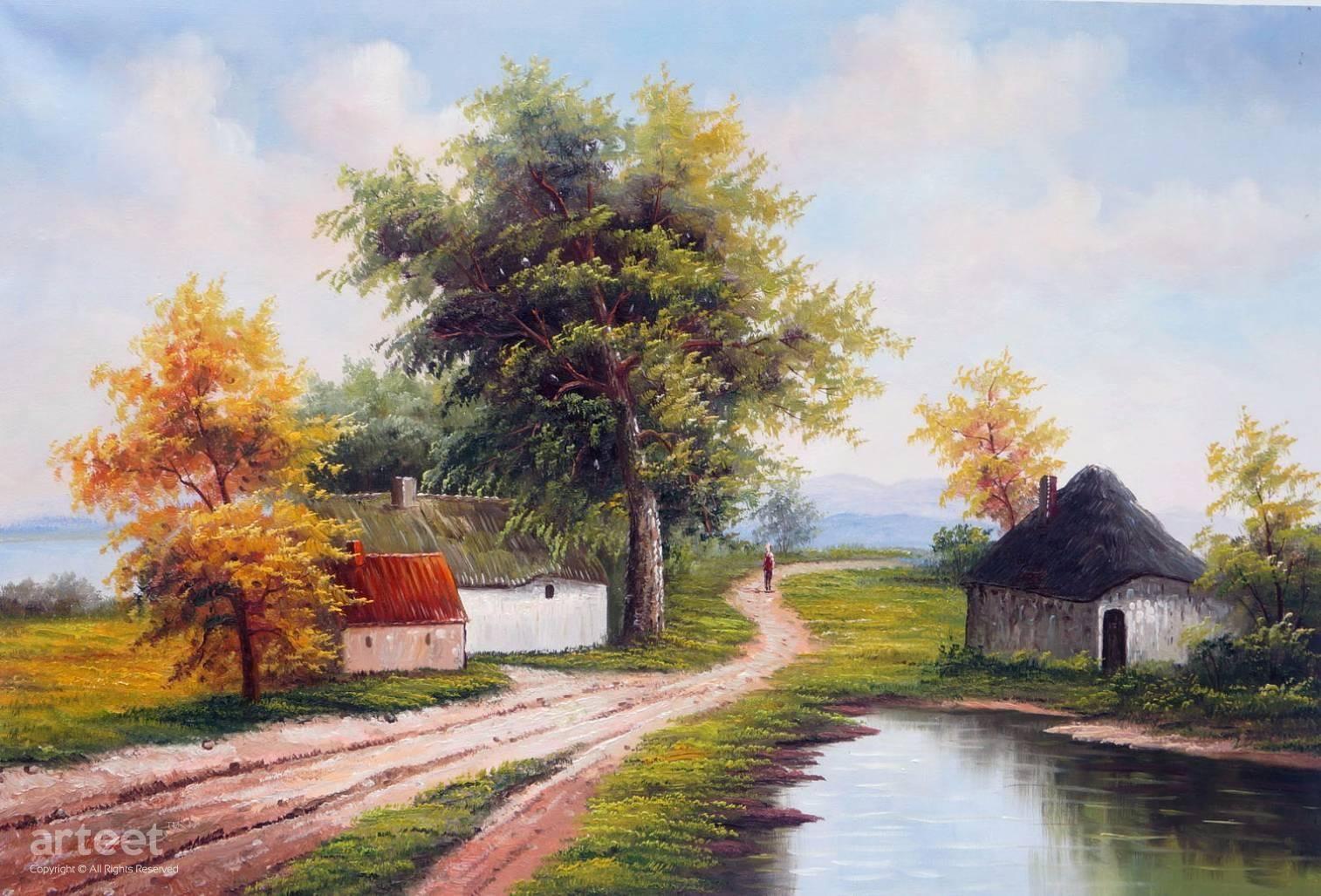 Summer In Pleasant Art Paintings For Sale Online Gallery Oil Painting Landscape Landscape Art Painting Landscape Painting Artists