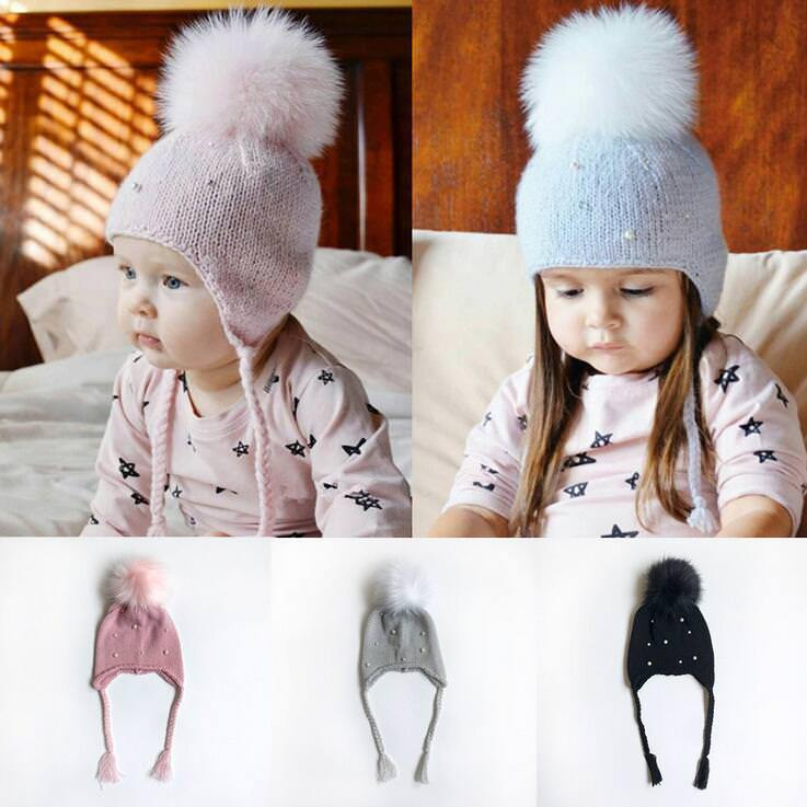 cb4676d8325  3.74 - Infant Baby Girl Boy Kids Toddler Knitted Hat Cap Beanie Bonnet  Winter Pompom  ebay  Fashion