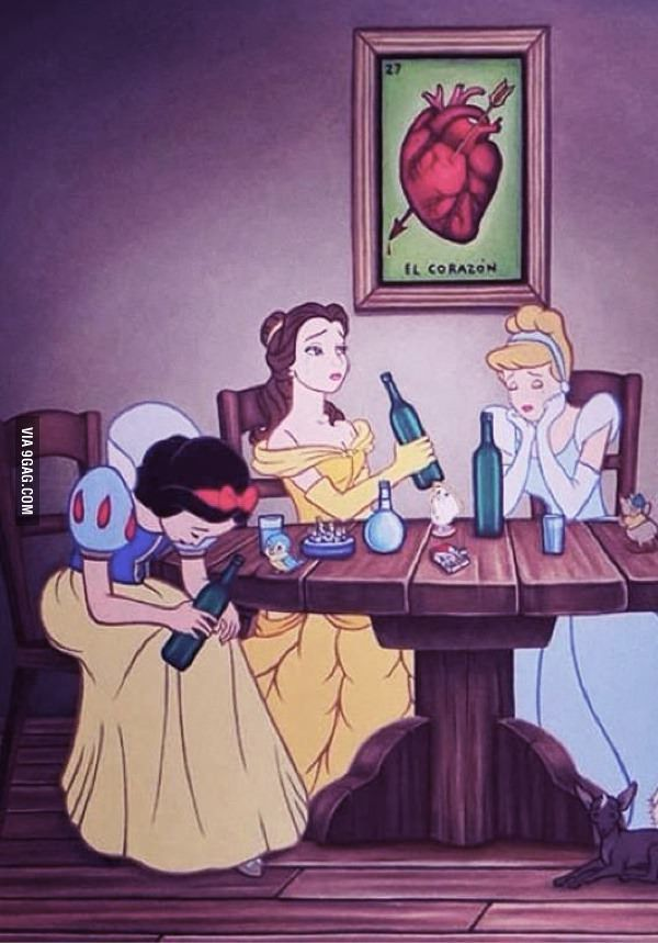 Latest Funny Life  If Disney princesses had a breakup
