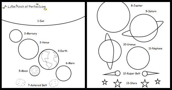 STEM Preschool Activity U is for Universe + Free