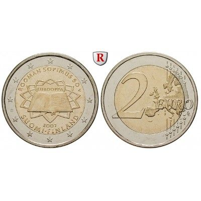 Finnland Republik 2 Euro 2007 Bfr 2 Euro 2007 50 Jahre