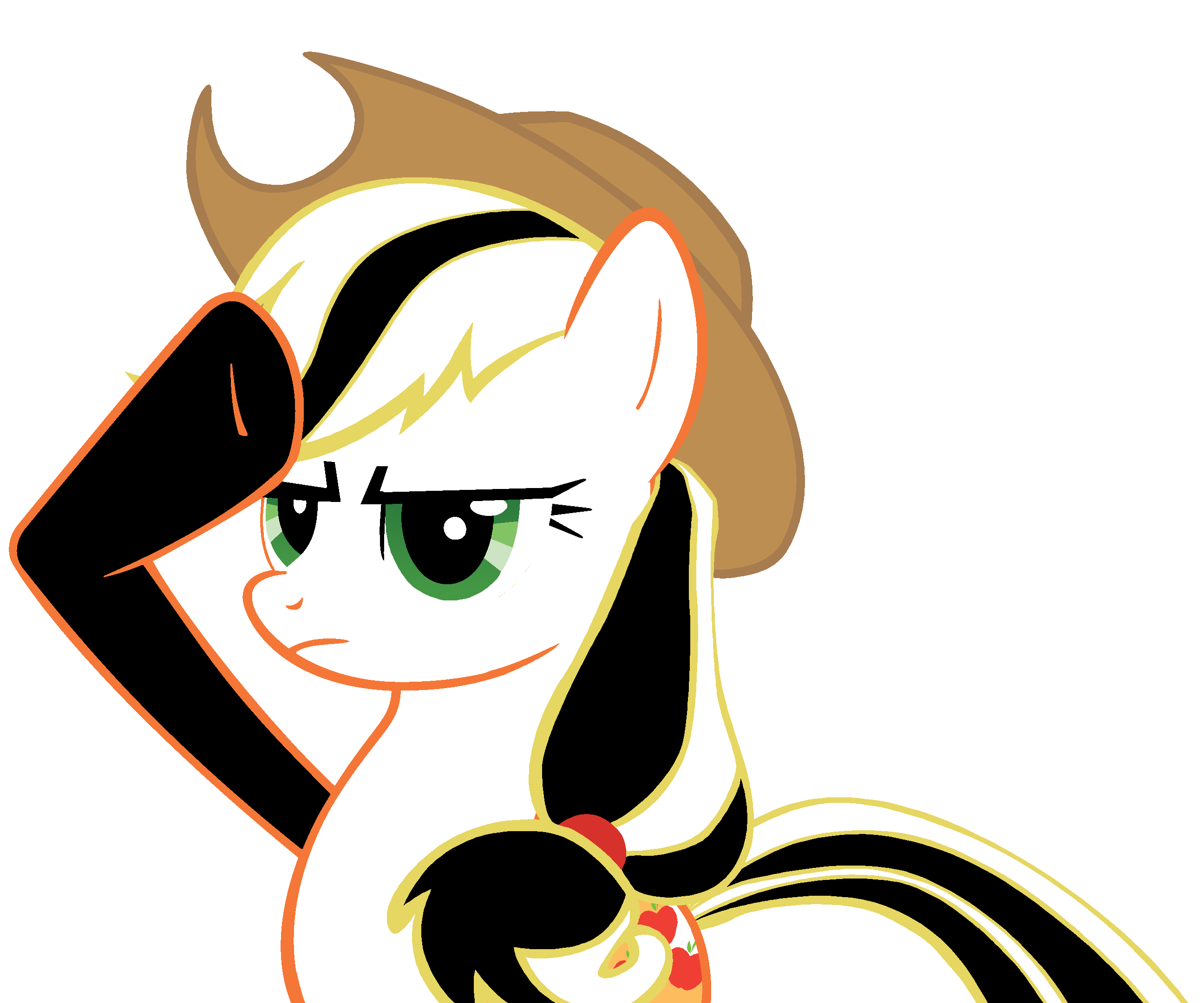 Black and White of Applejack Salutes | MLP (My Little Pony ...