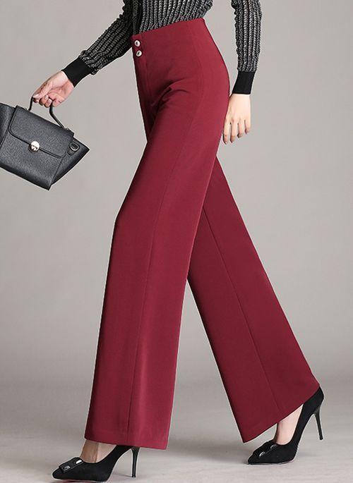 De mujer Ancho Pantalones   Pantalones sueltos
