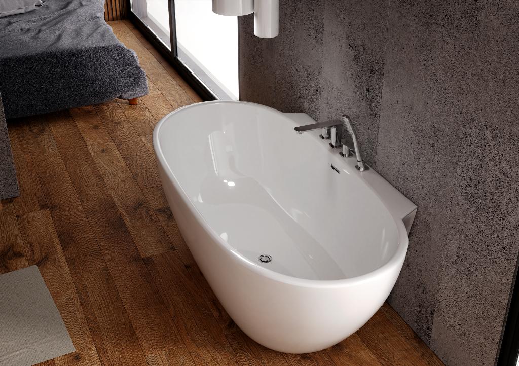 Wanna Przyscienna Z Ranem Na Baterie Scandibath Mandal W Dwoch Rozmiarach Scandibath Architekt Easy Bathroom Decorating Bathroom Decor Bathroom Inspiration
