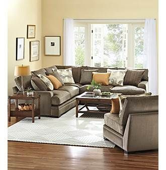 HM Richards Zibo Microfiber Muilti-Piece Sectional with Accent Pillows at Carson's in Chicago - 29990390