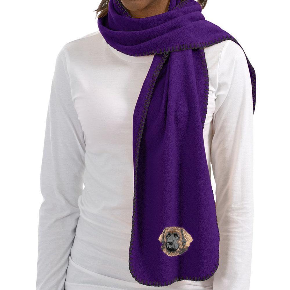 Leonberger Embroidered Scarves Fleece scarf, Cardigan