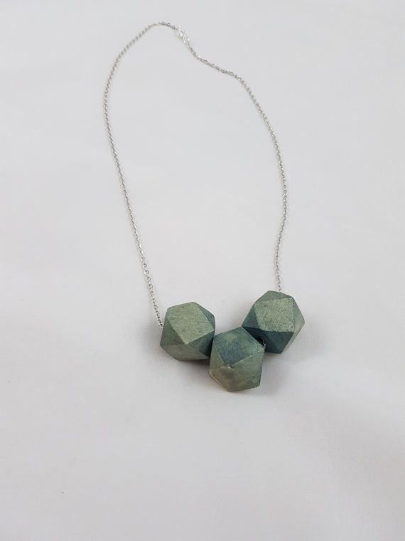 Wood beads Necklace. Handcut and dyed wooden beads necklace.  Wood necklace. Wooden Necklace.