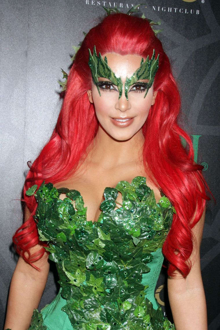 poison ivy makeup and eye decoration Special effects