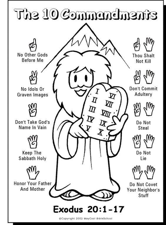 10 Commandments printable for kids | 10 commandments, Sunday school ...