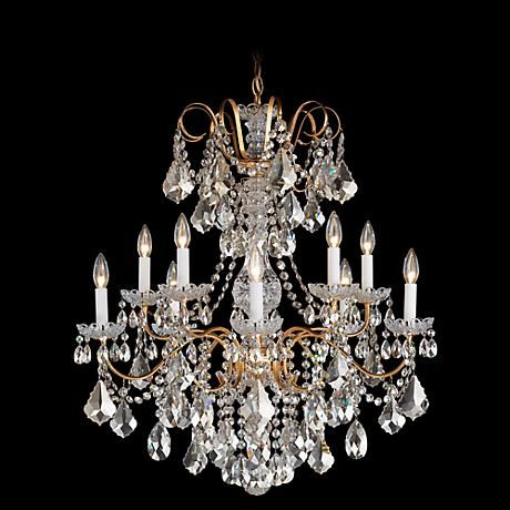 Schonbek new orleans 28w gold hand cut crystal chandelier schonbek new orleans 28w gold hand cut crystal chandelier mozeypictures Images