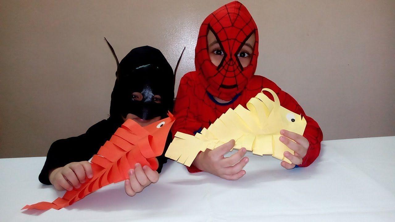 العاب ورقية كيف تصنع سمكة بالورق بطريقة سهلة جدا اشغال يدوية للاطفال Spiderman Batman Man