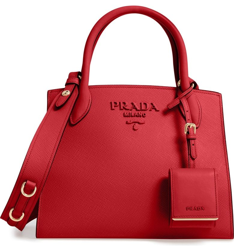 0ee0917a415a Free shipping and returns on Prada Small Monochrome Saffiano Tote at  Nordstrom.com. A