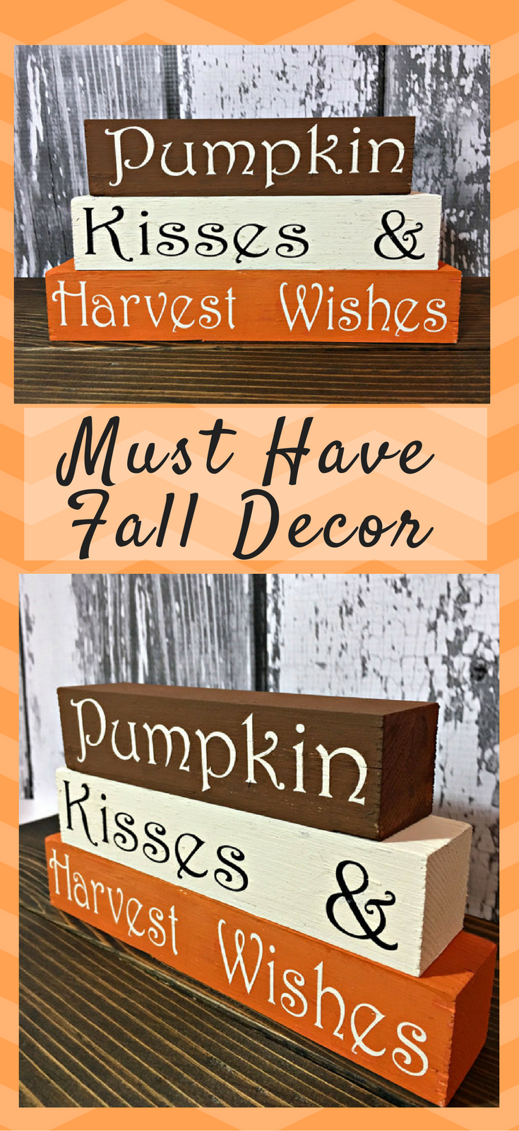Window decor and more orange beach  pumpkin kisses u harvest wishes shelf sitters fall ad pumpkin