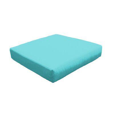 Photo of TK Classics Indoor/Outdoor Ottoman Cushion Fabric: Quick – Dry Foam/Acrylic in Aruba, Size 6″ H x 28″ W x 28″ D   Wayfair