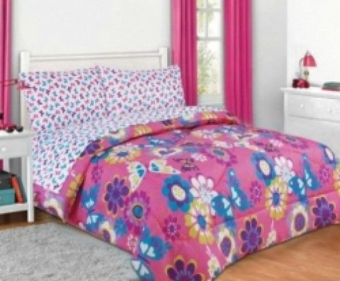 Pink Purple Butterfly Bedding Sets For Girls Projects To Try