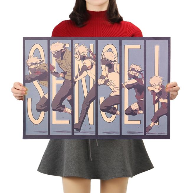 Sale Off Hatake Kakashi Retro Kraft Posters Naruto Fan