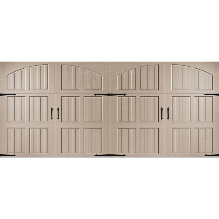 Pella Carriage House Series 192 In X 84 In Insulated Sandtone Double Garage Door Double Garage Door Garage Doors Garage