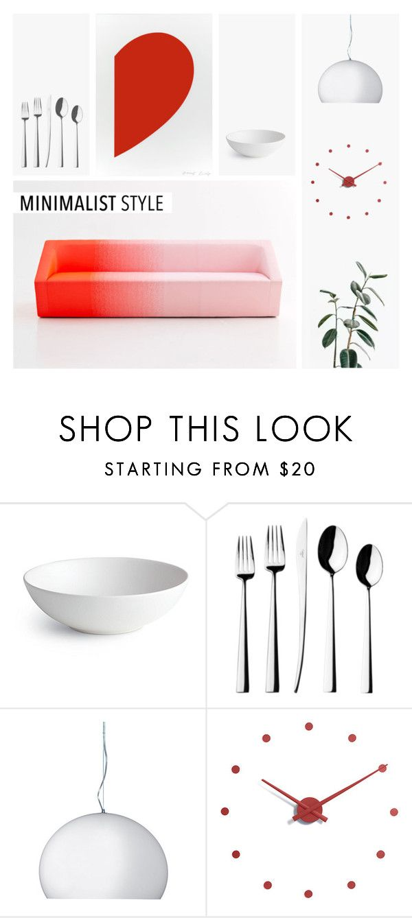 """Minimalist Style"" by shoelover220 ❤ liked on Polyvore featuring interior, interiors, interior design, home, home decor, interior decorating, Design Within Reach, Cutipol, Kartell and nomon"
