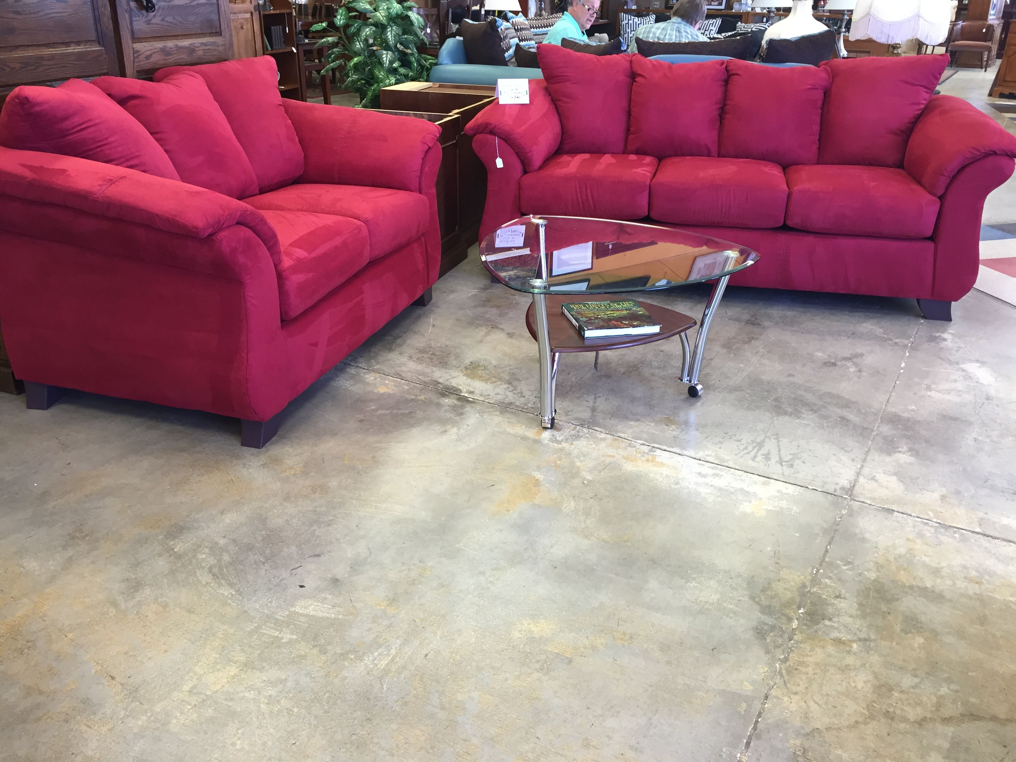 Red Brick Sofa And Loveseat All For Only $660.Buy Online At