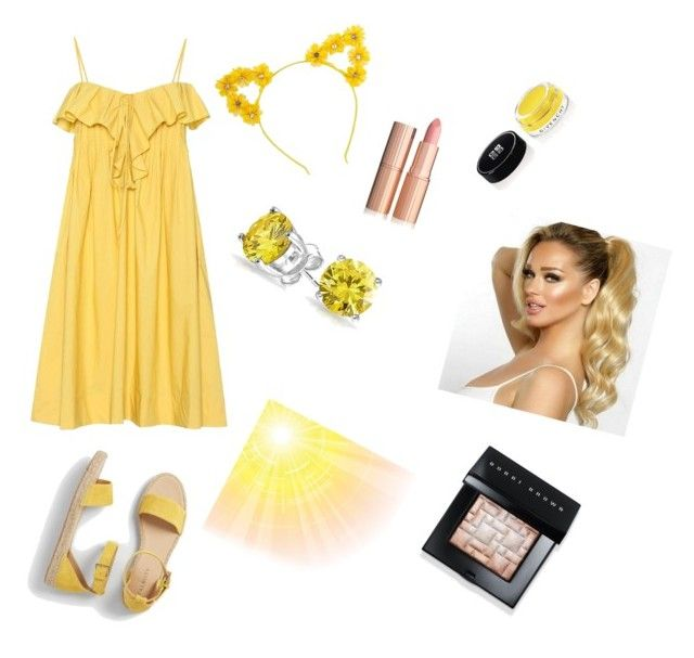 """""""The Yellow Fairy"""" by kaytlynhunter on Polyvore featuring beauty, Three Graces, Talbots, Givenchy, Bling Jewelry and Bobbi Brown Cosmetics"""