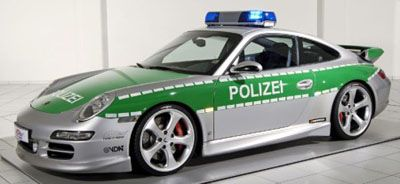 Polizei in Porsche