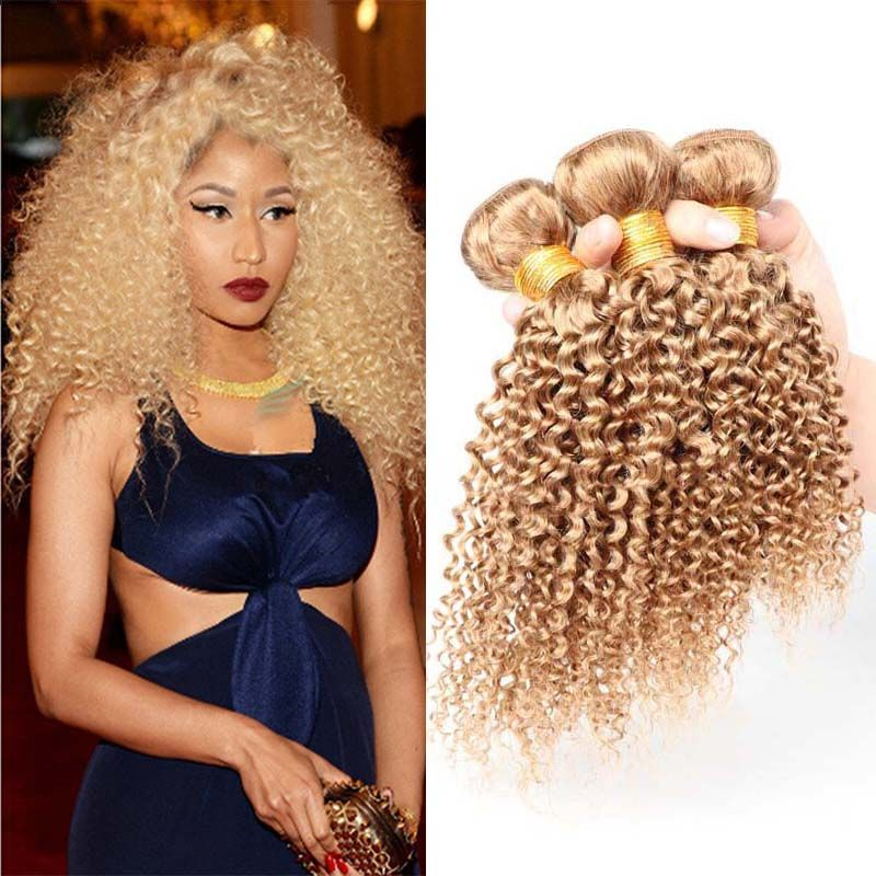 Brazilian Blonde Human Hair Bundles Colored 27 Blonde Human Hair