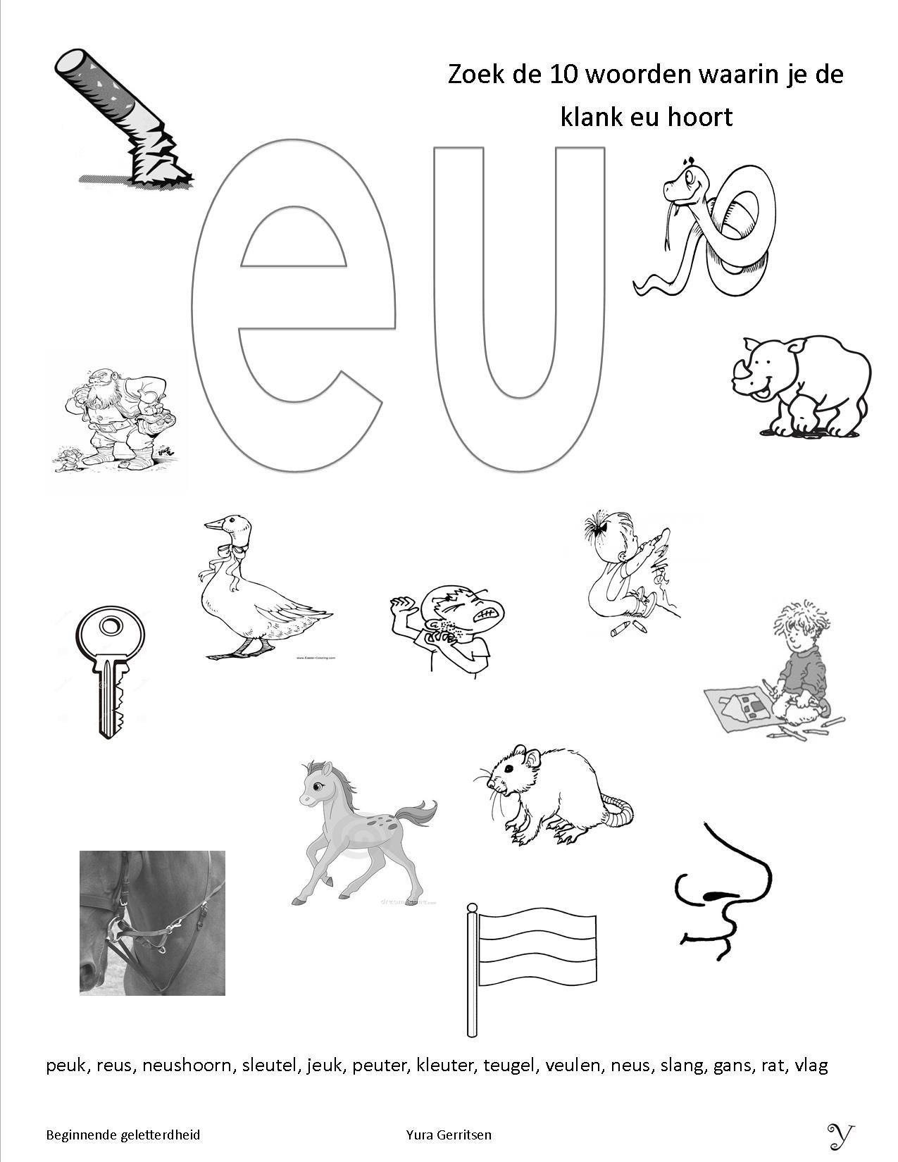 Beroemd werkbladen beginnende geletterdheid | VLL algemeen | Pinterest ZU02