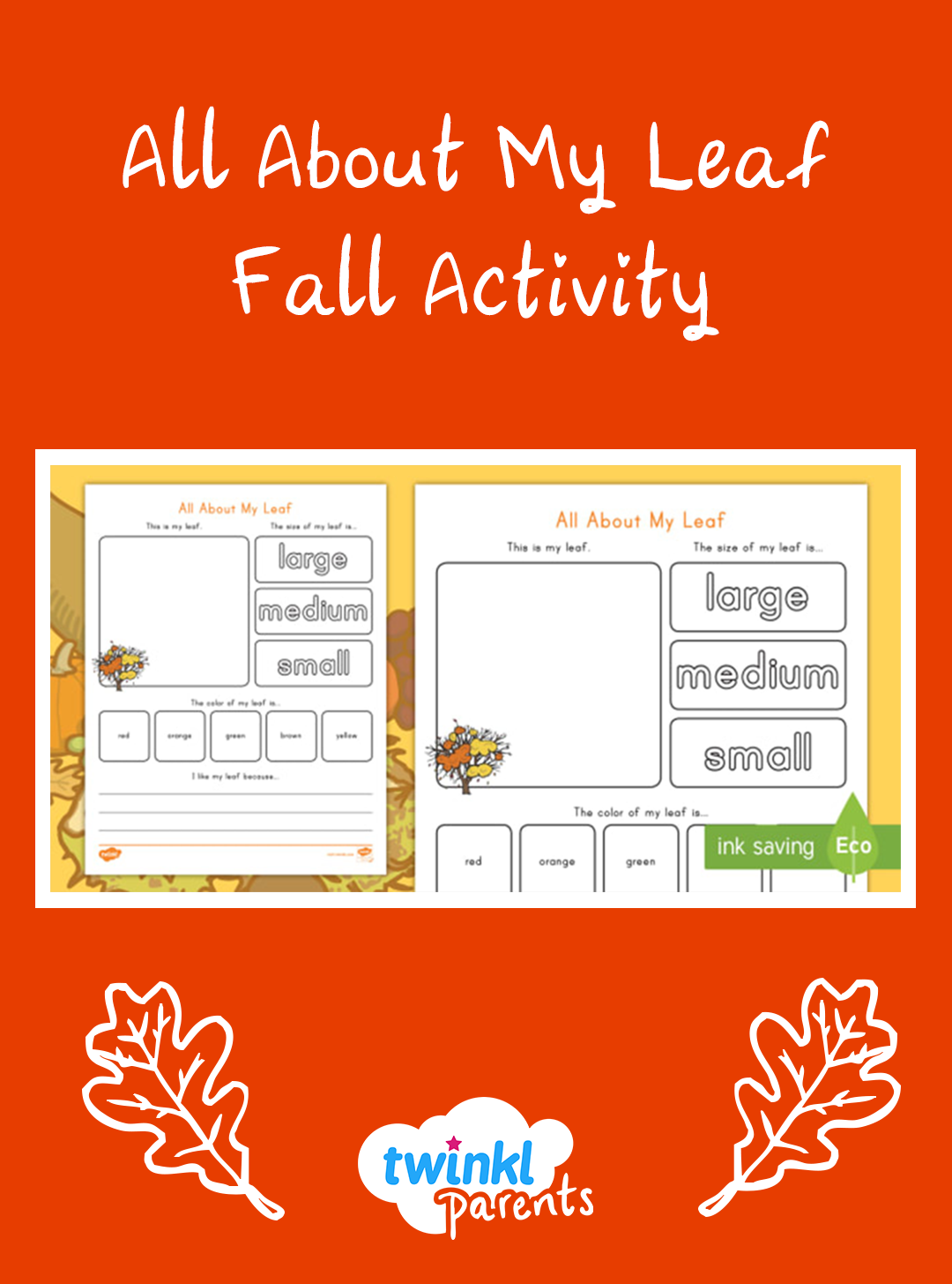 Your Children Can Describe Their Autumn Leaves Using This