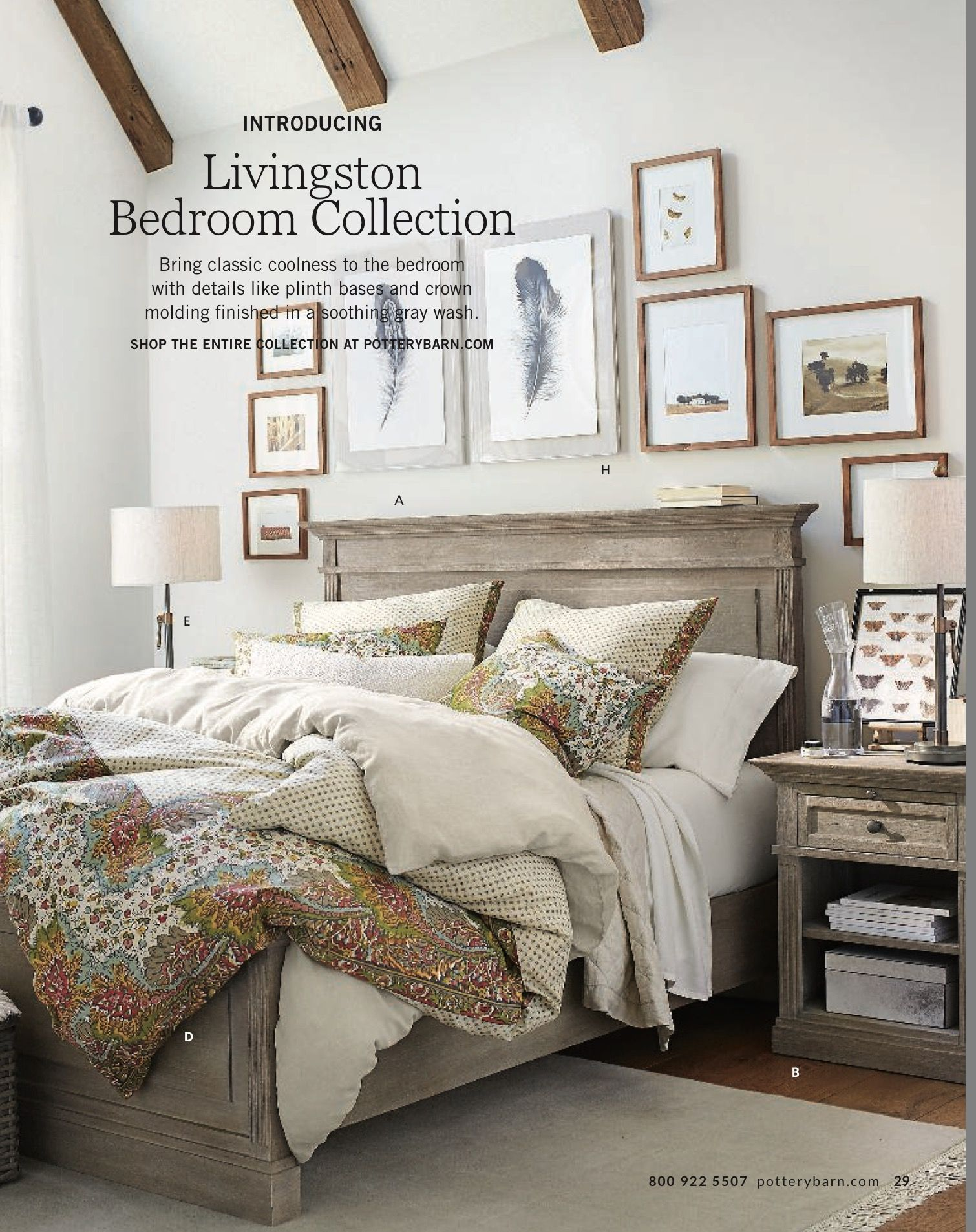 Livingston Bedroom Collection In Gray Wash Rustic Decor Pottery Barn Bedrooms Industrial Farmhouse Decor
