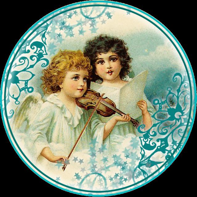 ангелы декупаж картинка