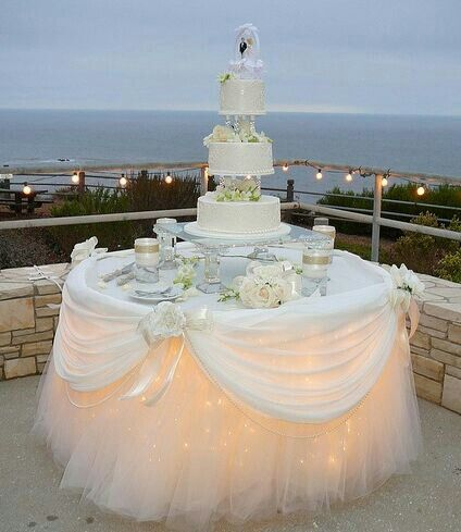Tulle Cake Table