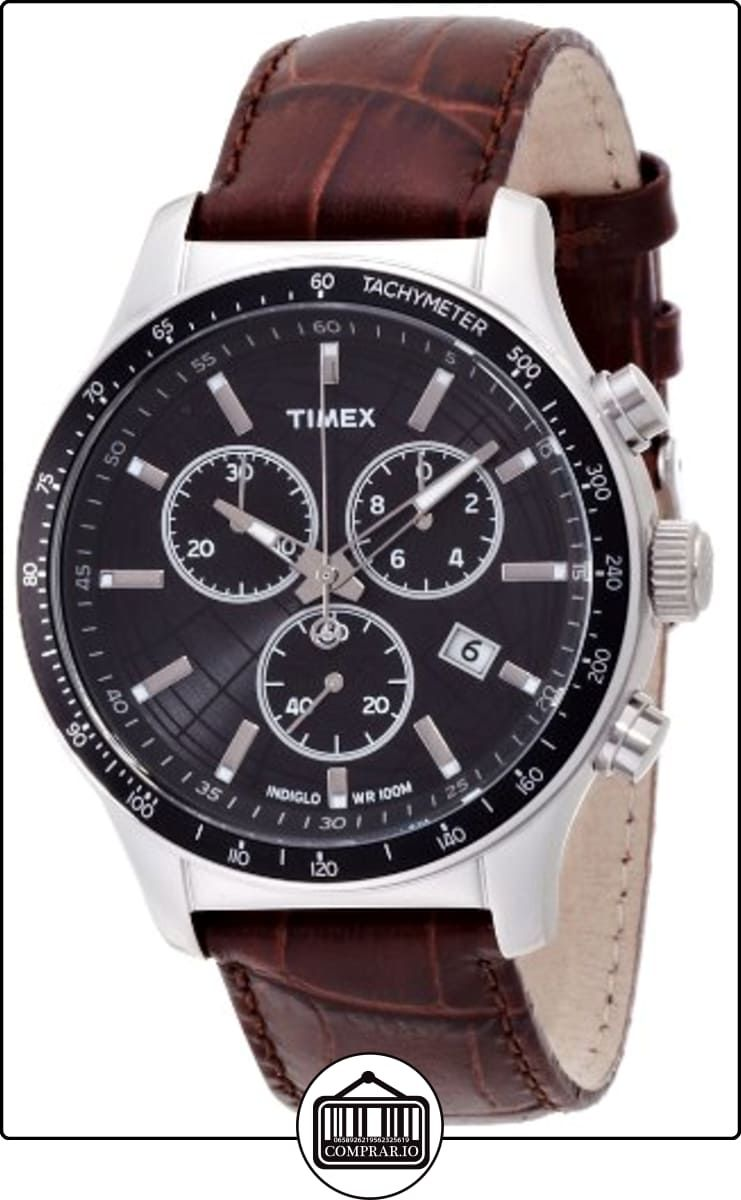d3059211e0a1 Timex T2N819 T2N819D7 - Reloj analógico de cuarzo para hombre ...