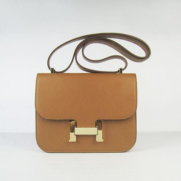 Women Hermes Laura Mercier vintage sling bag H017 Light coffee ... 53ad9d66518e3