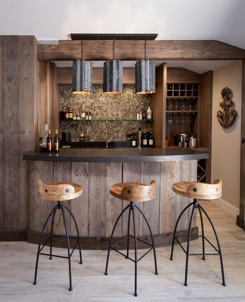 Basement Bar Ideas Rustic Home Bar Beach Style With Modern Bar