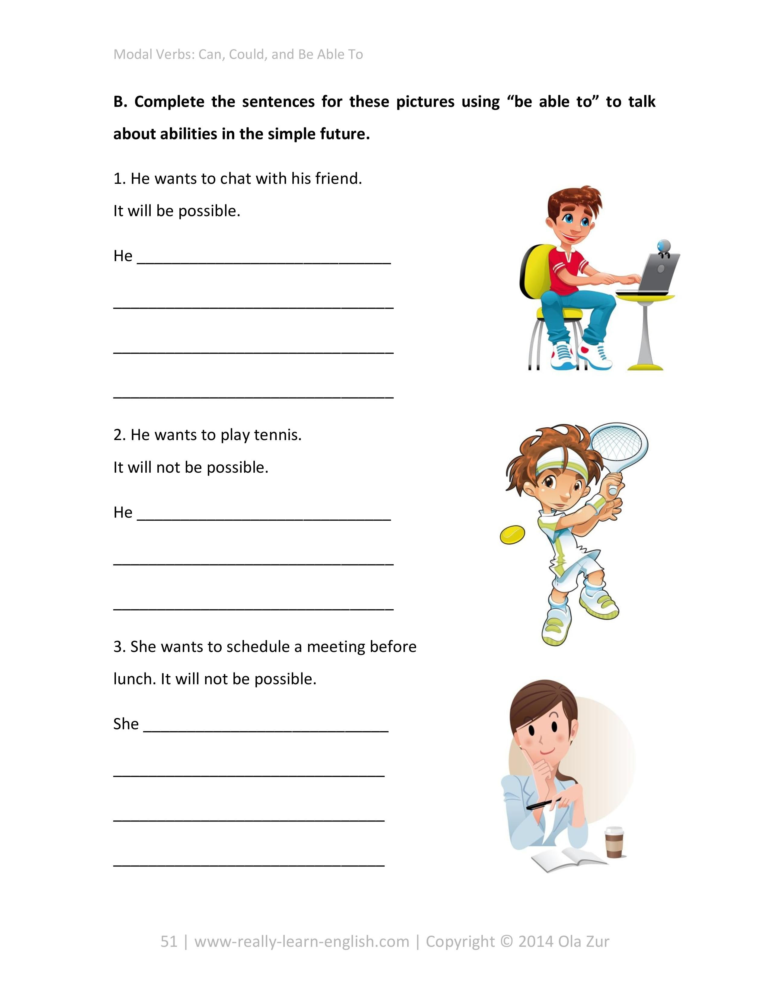 English Modal Verbs Step By Step Illustrated Workbooks