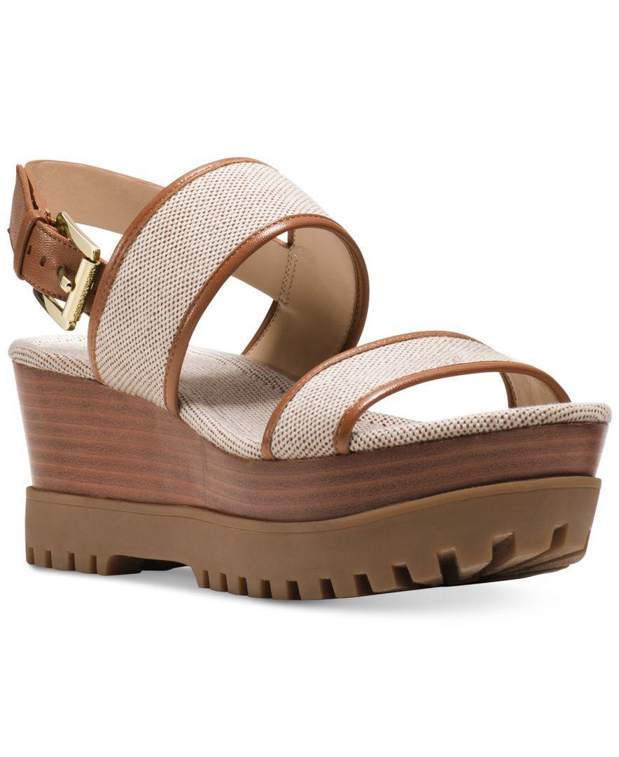 2a12a2f1fad8 Michael Michael Kors Gillian Platform Wedge Sandals