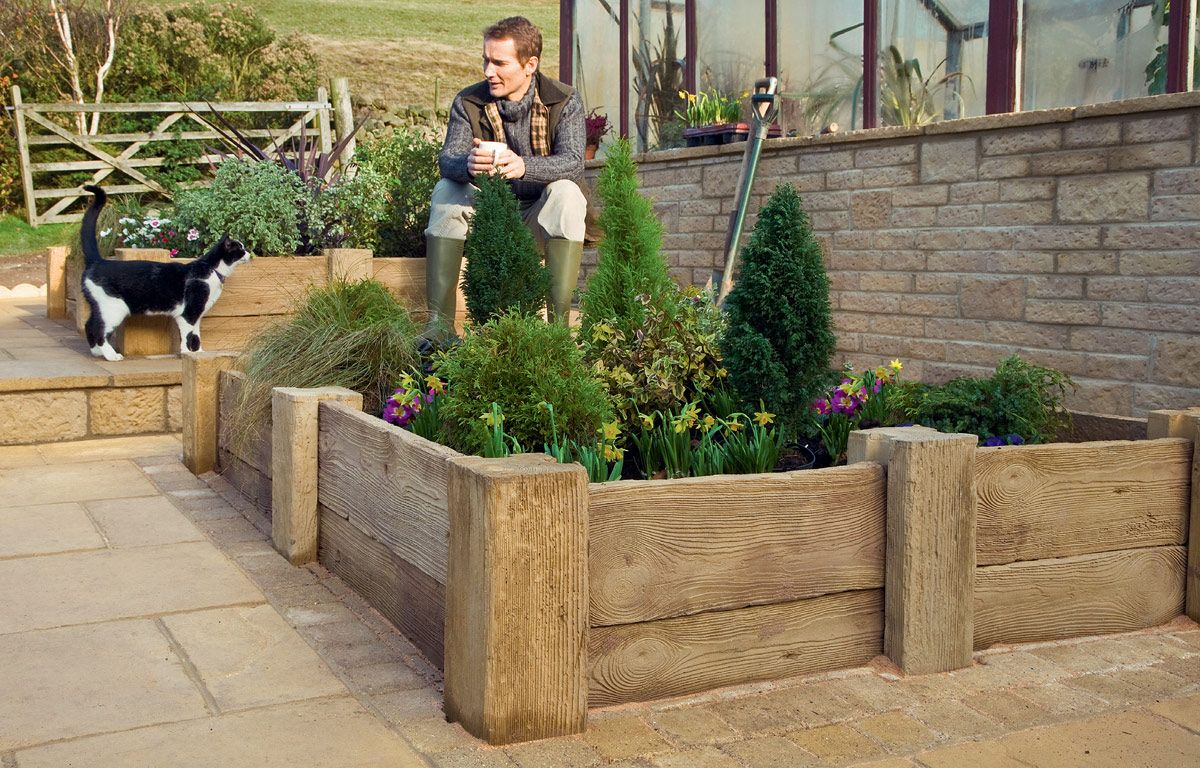Easy to build solution for Realistic looking woodstone ... on Paving Ideas For Back Gardens id=90495