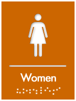 Braille Women S Restroom Sign Restroom Sign Bathroom Signs Ada Restroom