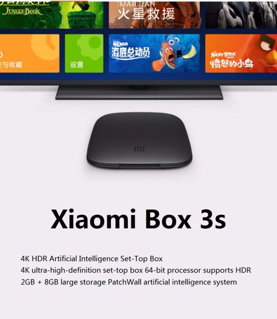 New Xiaomi Mi Box 3S Player Android TV 6 0 Quad Core 64Bit