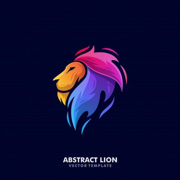 Lion Illustration Vector Template