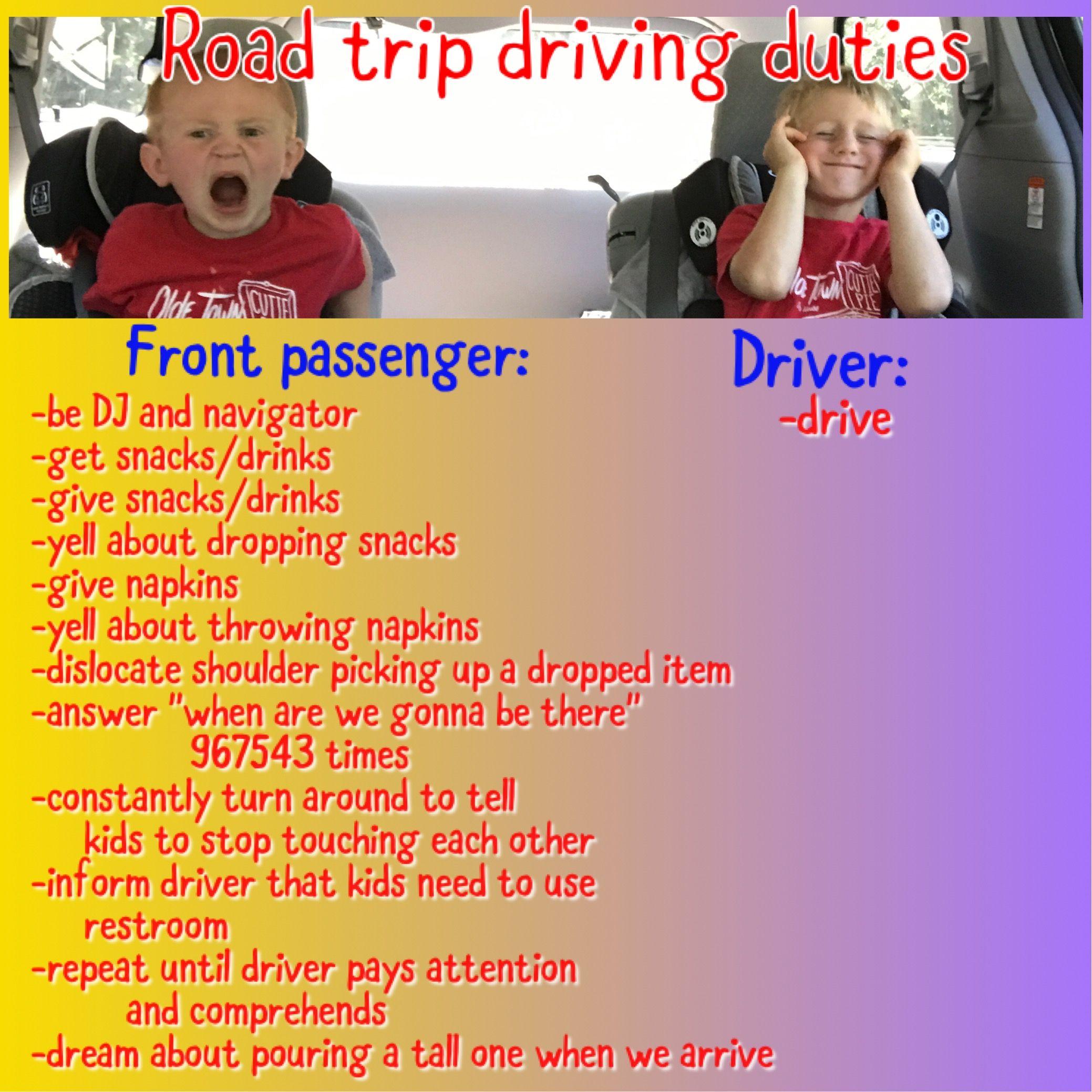 Road Trip Driving Duties