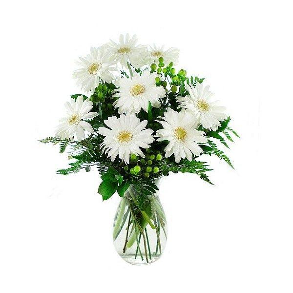 KaBloom Perla Daisies Fresh Flower Arrangement ($41) ❤ liked on ...