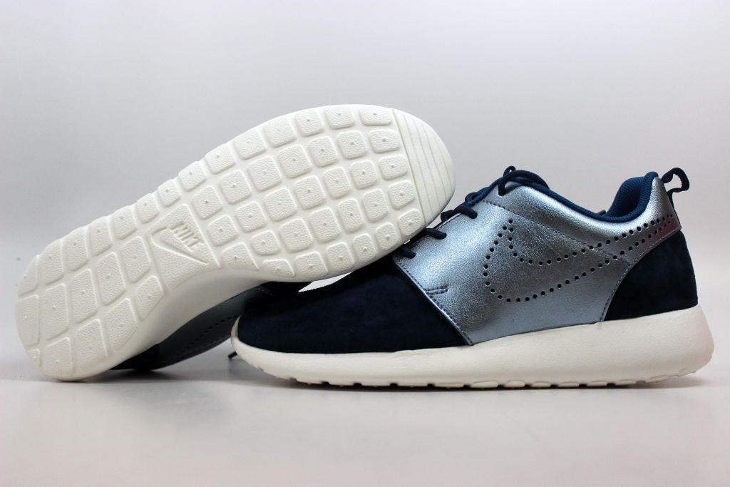 576645160f2dc Nike Roshe One PRM Suede Midnight Navy Blue-Silver 820228-400 Women s ALL  SIZES…
